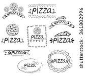 set of hand written label for...   Shutterstock .eps vector #361802996