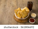 esfiha meat on the table with... | Shutterstock . vector #361806692