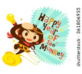 happy new year  year of the... | Shutterstock .eps vector #361806935