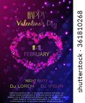 valentines day party poster... | Shutterstock .eps vector #361810268