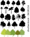 vector tree set | Shutterstock .eps vector #3618116