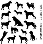 dog set | Shutterstock .eps vector #361814138