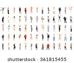 isolated over white people... | Shutterstock . vector #361815455