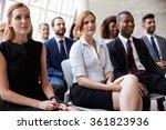 audience listening to speaker... | Shutterstock . vector #361823936