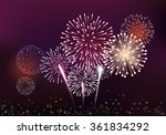 realistic fireworks background... | Shutterstock .eps vector #361834292