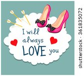 cartoon greeting card valentine'... | Shutterstock .eps vector #361835072