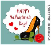 cartoon greeting card valentine'... | Shutterstock .eps vector #361835078