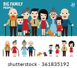 big family. collection of... | Shutterstock .eps vector #361835192
