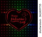 happy valentines day gradient... | Shutterstock . vector #361839755