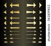 set of the golden arrows left... | Shutterstock .eps vector #361839812