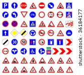 road sign vector set | Shutterstock .eps vector #36184177
