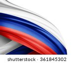 russia  flag of silk with... | Shutterstock . vector #361845302