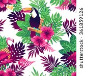 tropical trendy seamless... | Shutterstock .eps vector #361859126