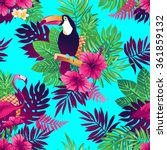 tropical trendy seamless... | Shutterstock .eps vector #361859132