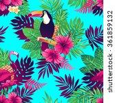 tropical trendy seamless... | Shutterstock .eps vector #361859132