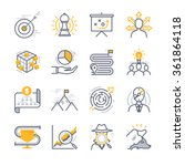 business strategy icons | Shutterstock .eps vector #361864118