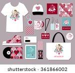 valentines day  creative love... | Shutterstock .eps vector #361866002