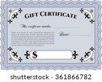gift certificate template.... | Shutterstock .eps vector #361866782