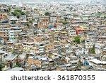 crowded brazilian favela shanty ...   Shutterstock . vector #361870355