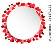 holiday love background  card ...   Shutterstock .eps vector #361871138