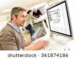engineer working in design...   Shutterstock . vector #361874186