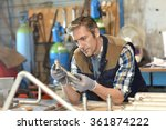 worker in metallurgy workshop | Shutterstock . vector #361874222