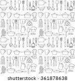 kitchen tools utensils seamless ... | Shutterstock .eps vector #361878638