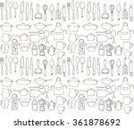 kitchen tools utensils seamless ... | Shutterstock .eps vector #361878692