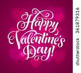 vector valentine's day... | Shutterstock .eps vector #361879316