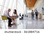 business meetings in busy... | Shutterstock . vector #361884716