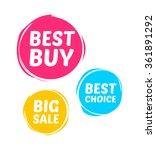 best buy  best choice   big... | Shutterstock .eps vector #361891292