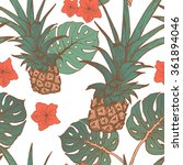 seamless pattern with pineapple ... | Shutterstock .eps vector #361894046