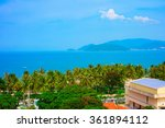 tropical landscape with sea bay ... | Shutterstock . vector #361894112
