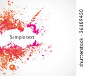 colorful abstract illustration. ... | Shutterstock .eps vector #36189430