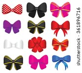 bow set vector in colorful... | Shutterstock .eps vector #361896716