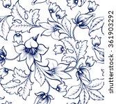 vector floral watercolor... | Shutterstock .eps vector #361903292