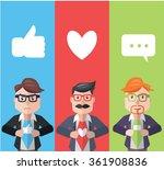 businessman superhero flat... | Shutterstock .eps vector #361908836