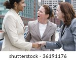 three women shaking hands. | Shutterstock . vector #36191176