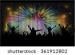 dancing people silhouettes. | Shutterstock .eps vector #361912802