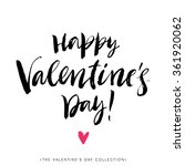 happy valentines day greeting... | Shutterstock .eps vector #361920062