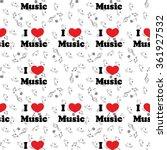 seamless pattern of music ... | Shutterstock .eps vector #361927532