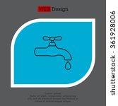water tap vector line icon | Shutterstock .eps vector #361928006