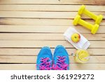 workout and fitness planning...   Shutterstock . vector #361929272