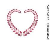 floral wreath in heart shape...   Shutterstock .eps vector #361933292