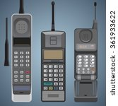 old cell phones flat style... | Shutterstock .eps vector #361933622