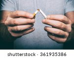 Quit Smoking   Male Hand...