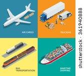 global logistics network. flat... | Shutterstock .eps vector #361940888