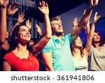 smiling friends at concert in... | Shutterstock . vector #361941806
