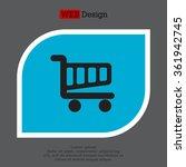 vector shopping cart icon | Shutterstock .eps vector #361942745