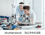 young students researchers...   Shutterstock . vector #361944188